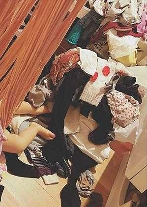 【画像】木下優樹菜の洗濯物溜めっぷりがヤバいww