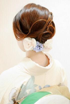 結婚式参列の和装ヘアセット