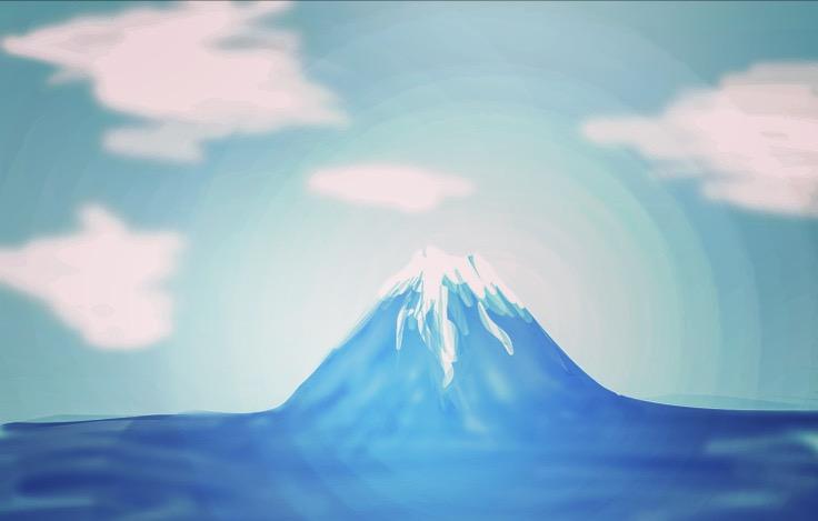 【お絵描きトピ】富士山を描こう