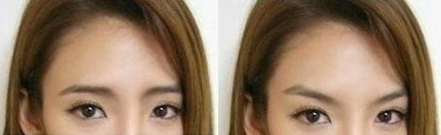 芸能人の眉毛の形を変えてみよう