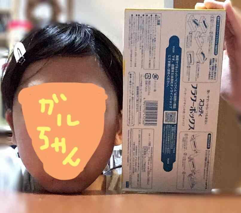 顔、ティッシュ箱より大きい?小さい?