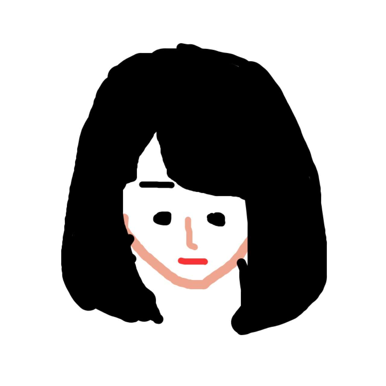今の髪型を描くトピ