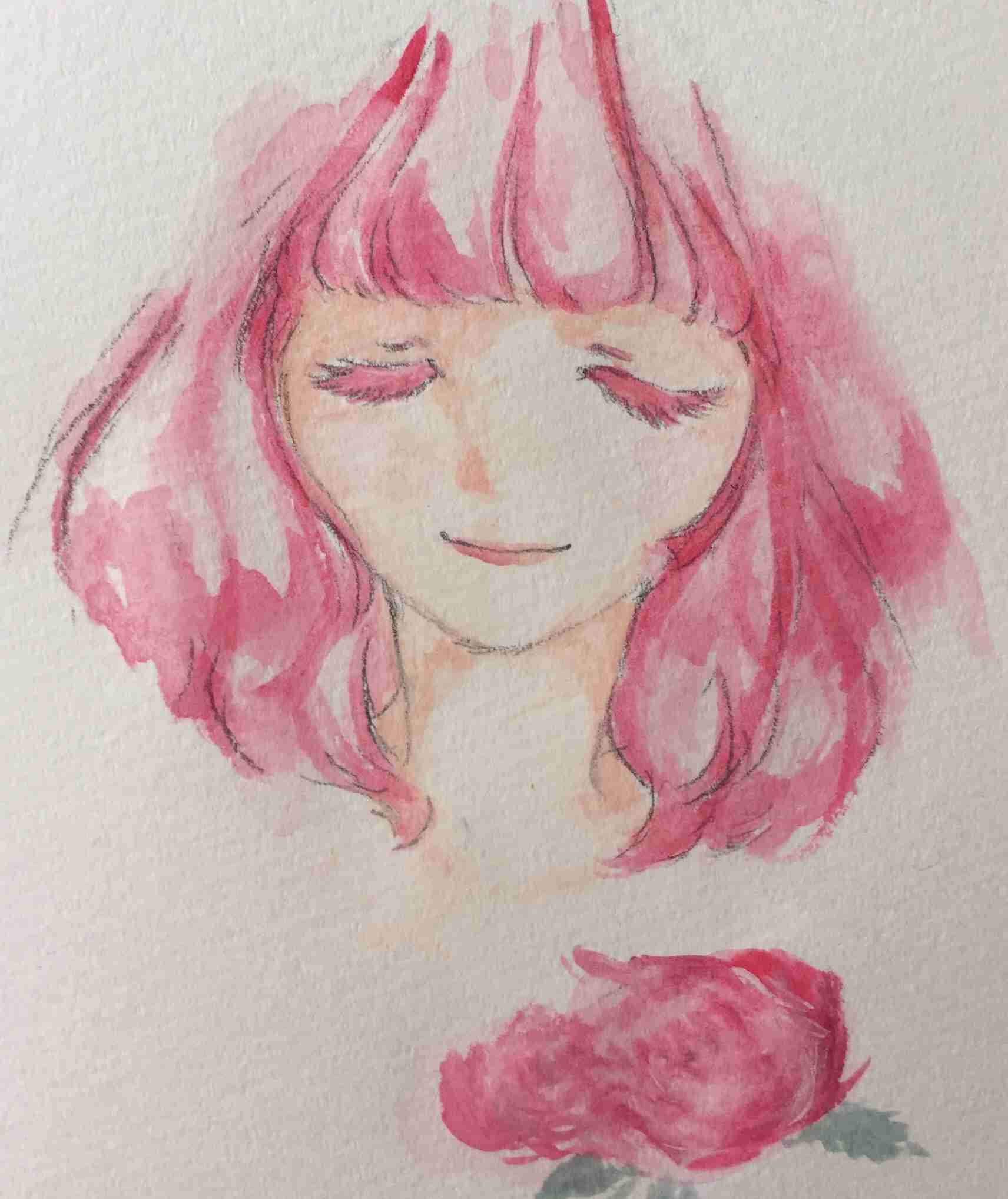 水彩画を描くトピ