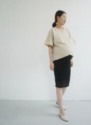 オフィスカジュアルの職場で働く方。妊娠してお腹が大きい時はどんな服を着ていましたか?