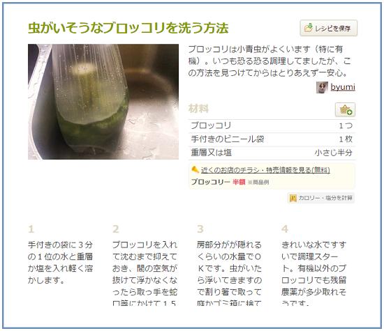 ブロッコリー、つぼみの中には虫がいっぱい…正しい洗い方とは?