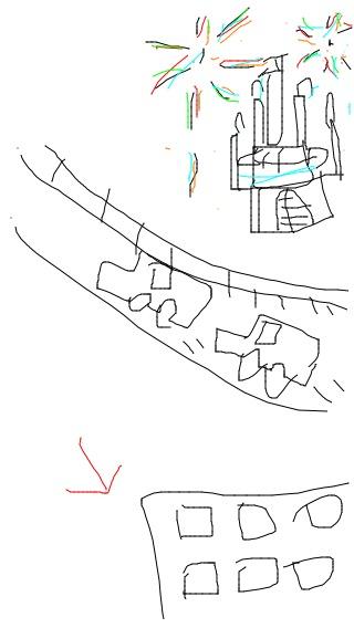 自分が住んでる所を絵で伝えるトピ