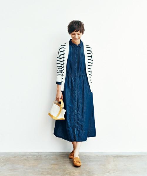 【画像】デニムワンピコーデ♪