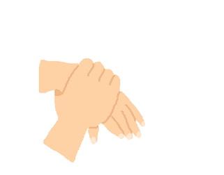 手がシワシワな人