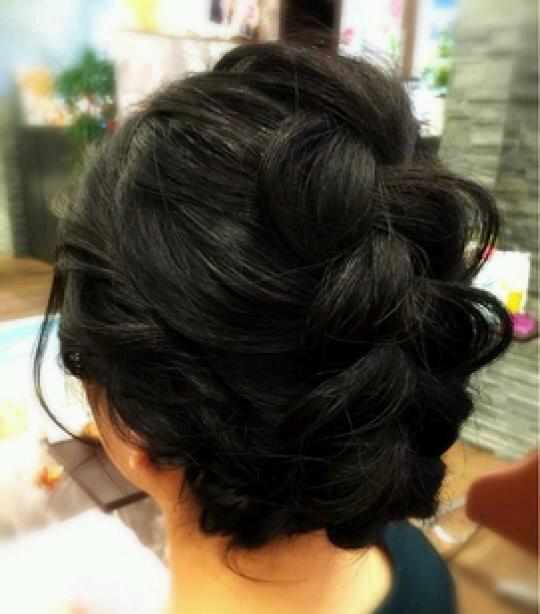 黒髪のヘアアレンジ