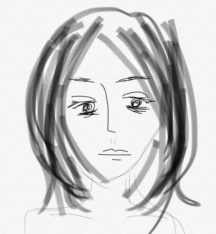 【お絵描き】スッピンどんな感じですか?【リアルに】