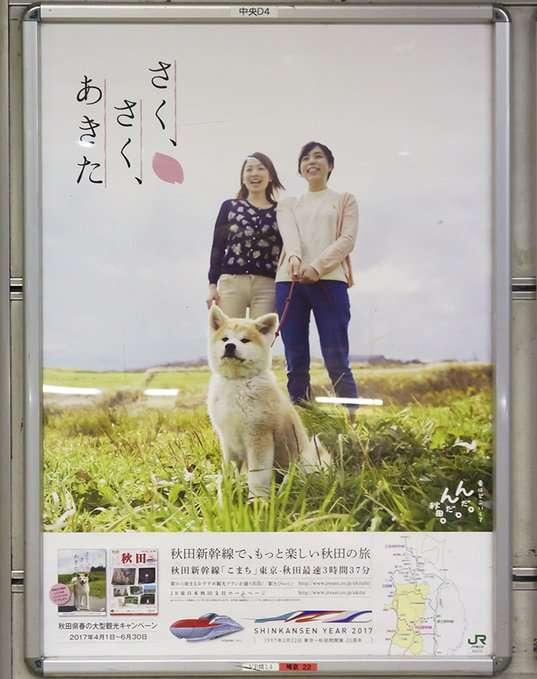 ワンコはいねがぁ〜!秋田犬の観光ポスターがじわじわと話題に