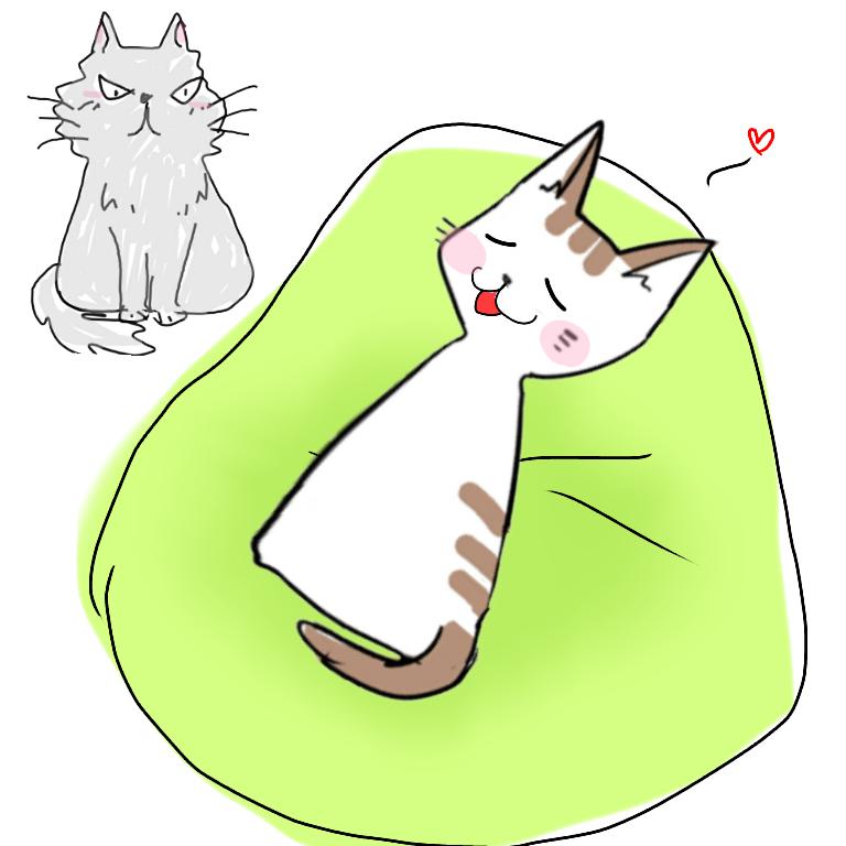 【お絵描き・コラ】仔猫を拾ったのですが懐いてくれません。助けてください【ネタトピ】