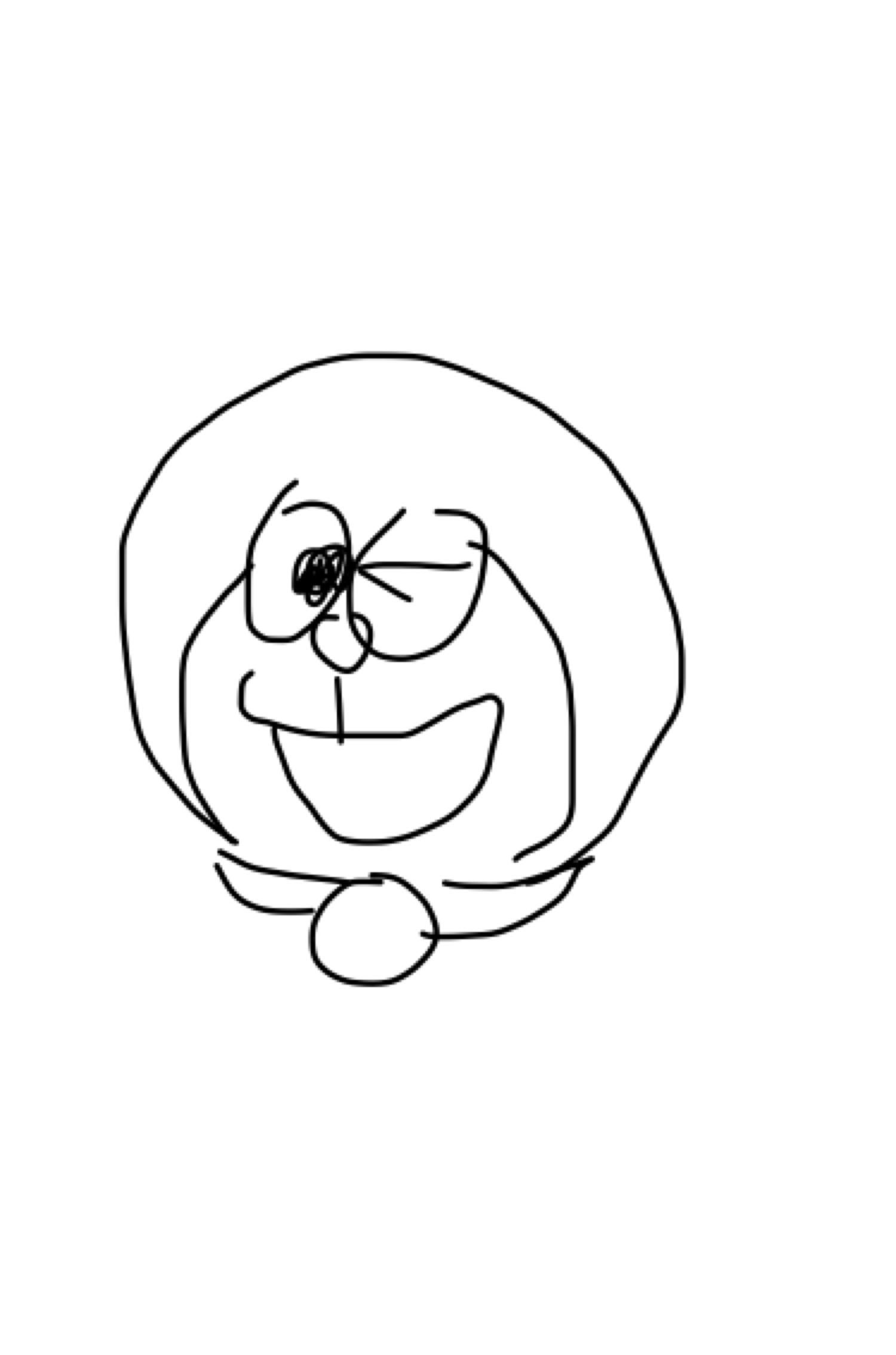 お手本を見ないでドラえもんを描くトピ