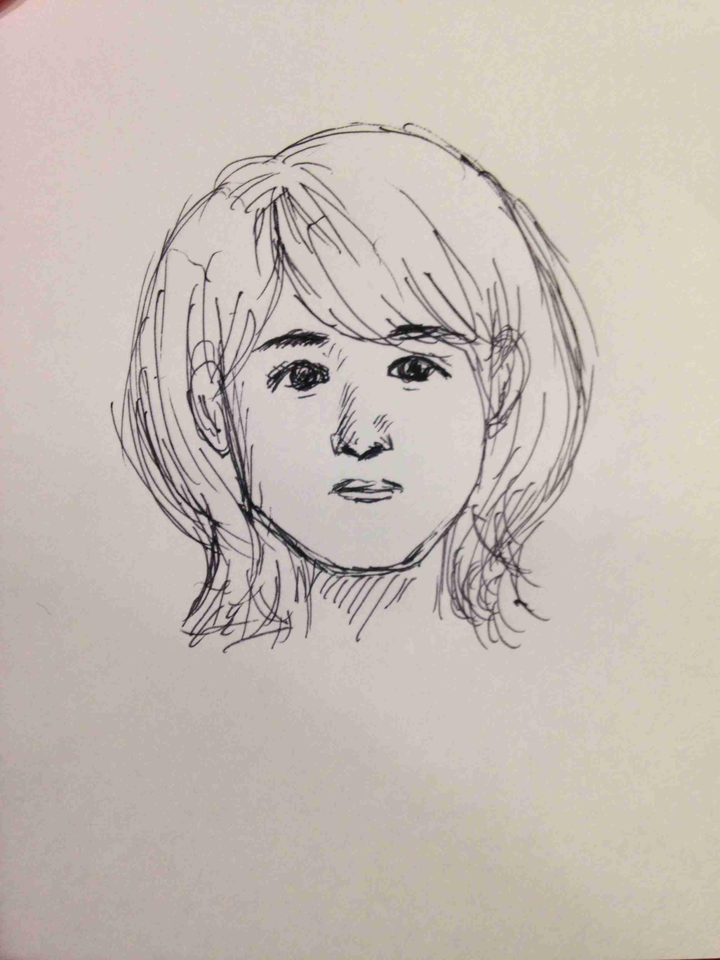 自分の顔の特徴を説明して絵に描いてもらうトピ