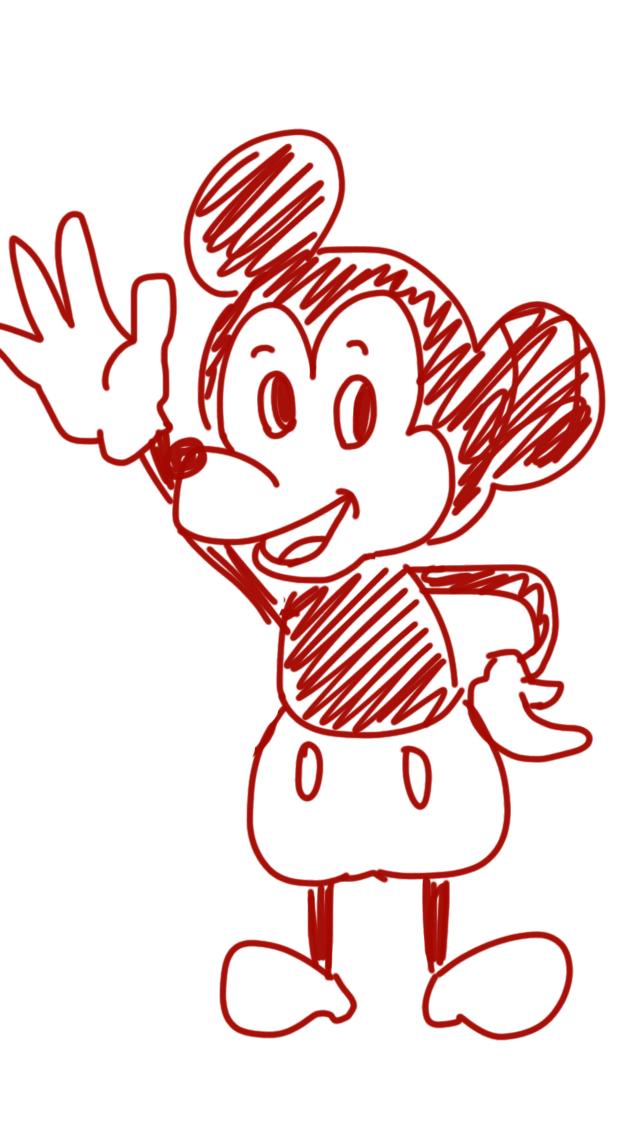 ミッキーマウスをお手本を見ないで描くトピpart2
