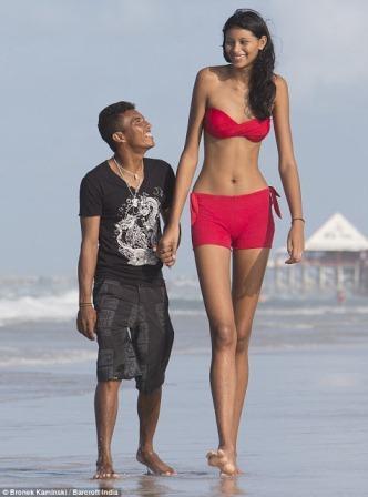 彼との身長差