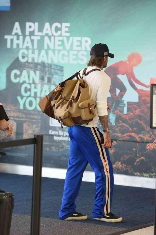 デヴィッド・ベッカム、ジャージで空港を歩く姿がみすぼらしすぎると炎上