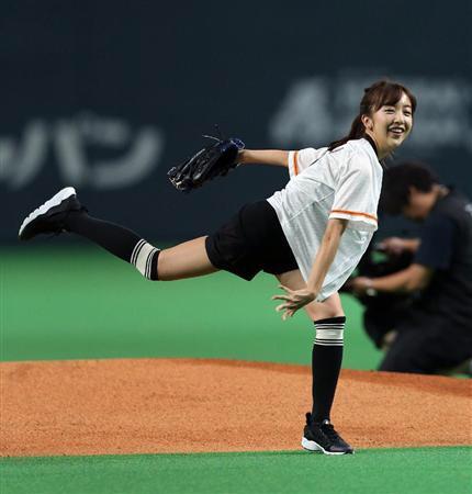 """板野友美、始球式で""""後輩""""大谷にエール「復活されたんですよね」"""