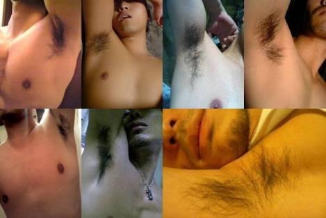 男性の脇毛について