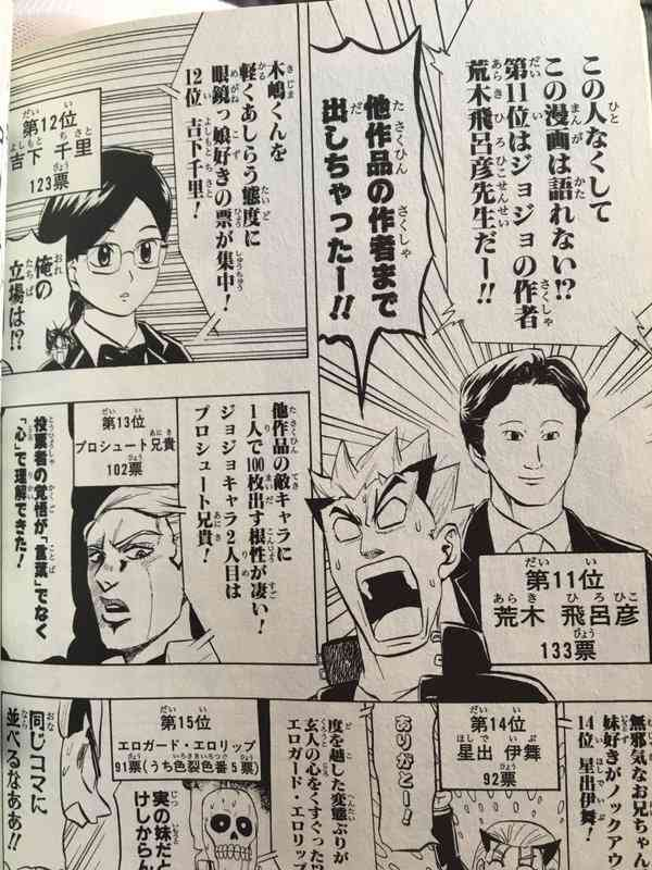 漫画の人気投票結果を集めるトピ