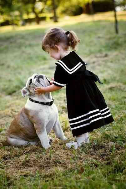 動物と子供の写真を貼るトピ