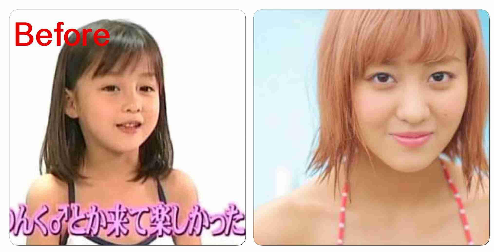幼少期に美少女だった人!
