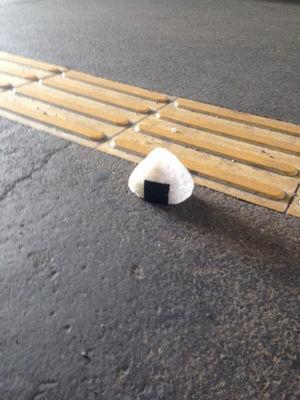 道路に落ちている不思議な物