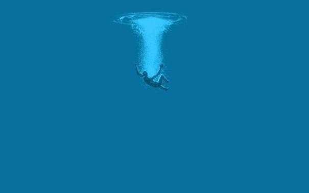 綺麗な海の画像と一言言って去るトピ
