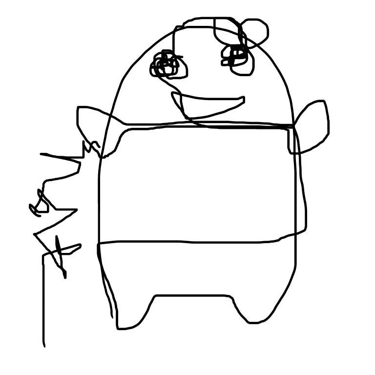 一筆描きのお絵かきトピ