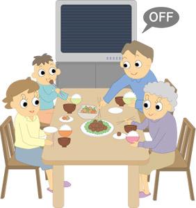 食事中のテレビ