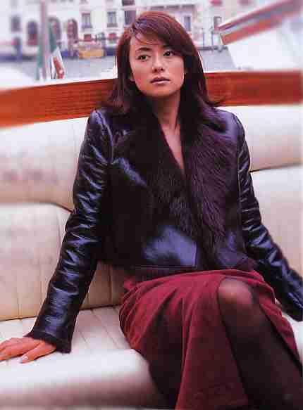 ファーのついたコーデの後藤久美子