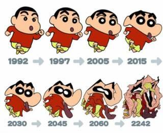 初期と今で顔が違うキャラクター