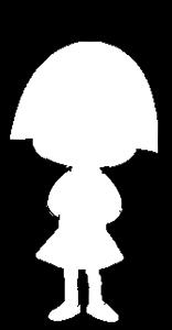 キャラクターをシルエットで描いて分かったらプラスを押すトピ