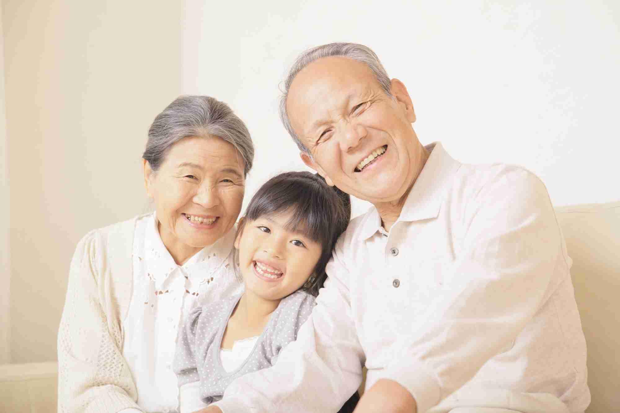 子供の頃、祖父母と同居でしたか?