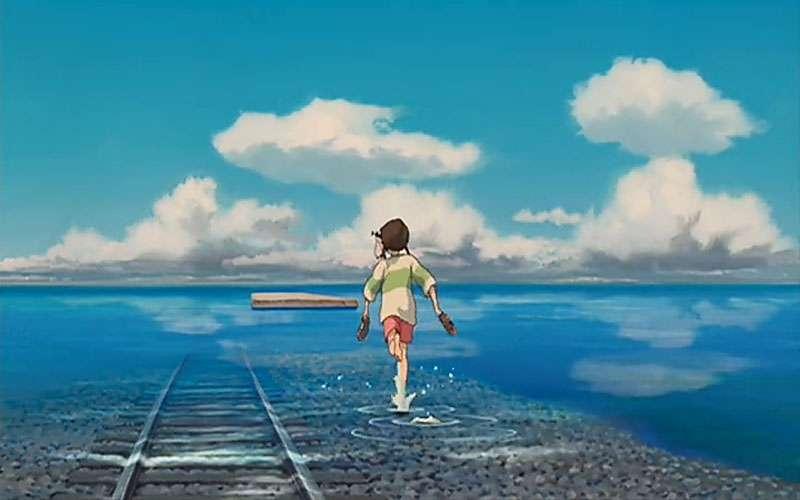千と千尋の神隠し海へ歩く千尋の壁紙