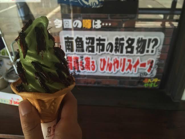 海老とみそ汁の素とえび煎を乗せたソフトクリームが新潟に登場!なぜ乗せた