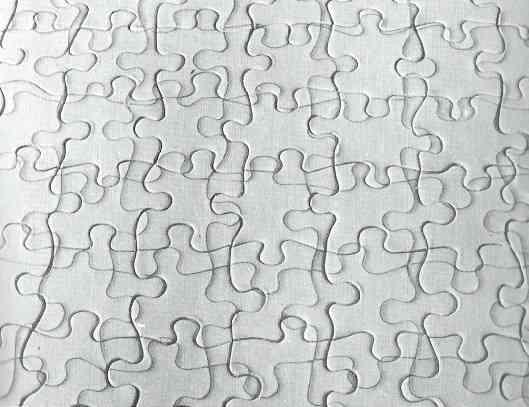 ジグソーパズルを貼るトピ