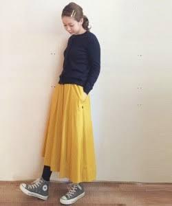 秋のロングスカートコーデを貼ろう