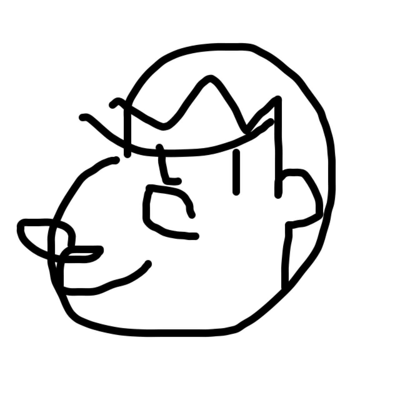 目をつぶって絵を描くトピ