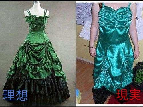 通販やカタログなどで買った服が写真とイメージが違うこと