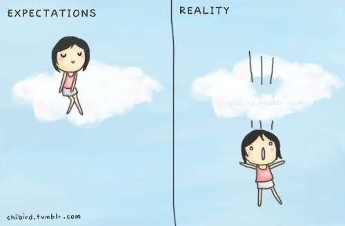 理想と現実のギャップを感じる画像をください