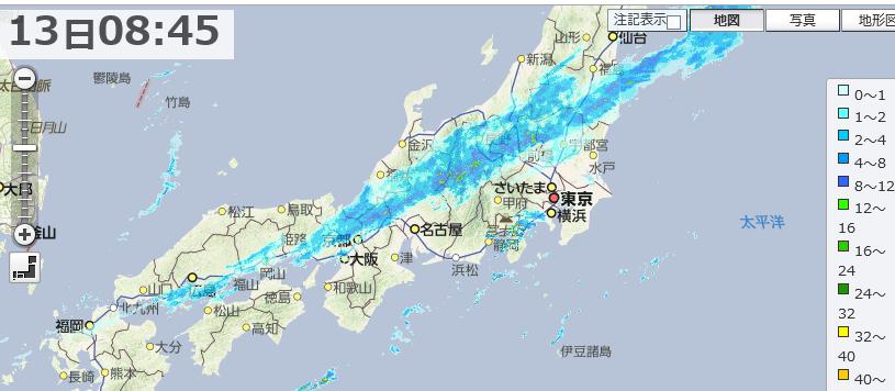 東京で11月下旬並みの寒さ 広くぐずついた天気