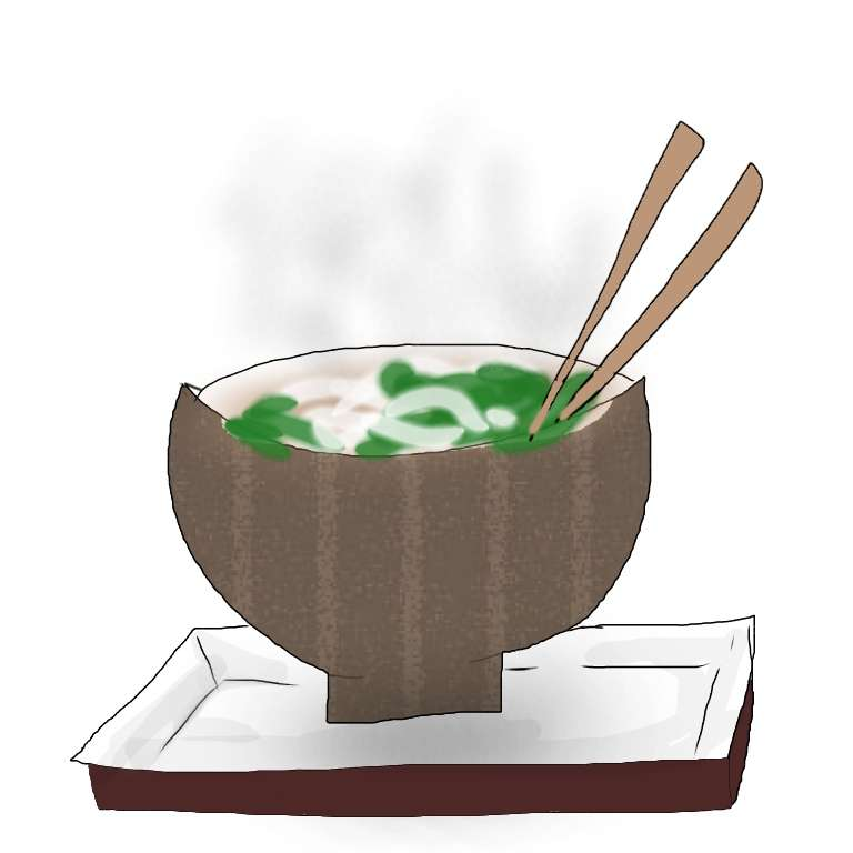 食べ物の絵を描いて当ててもらったり、リクエストされた食べ物の絵を描くトピ