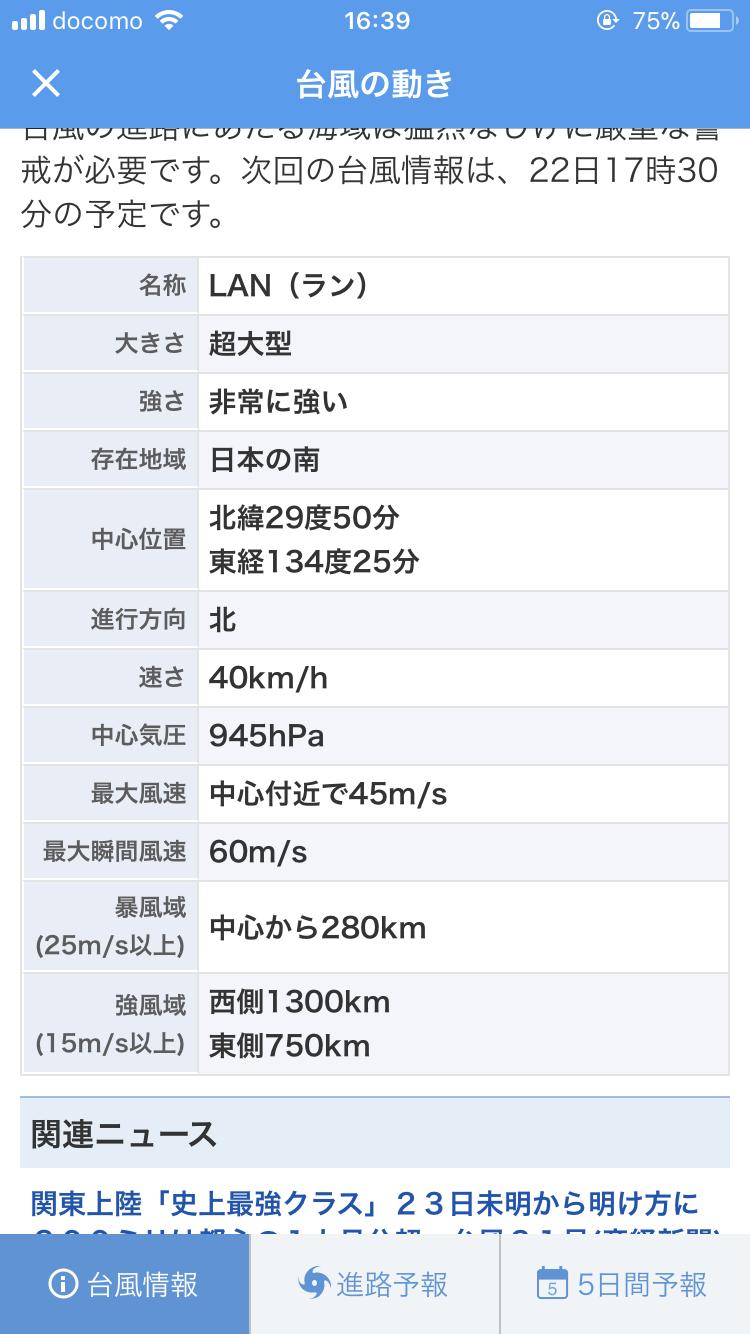 【実況・情報交換トピ】台風21号