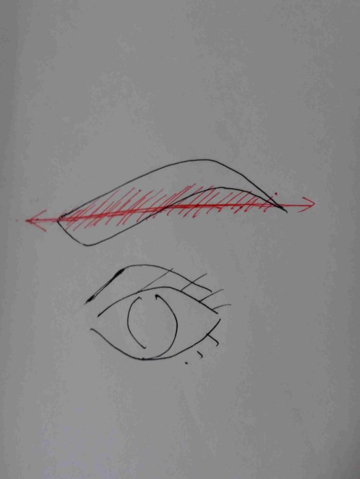 眉毛の形が定まらない人