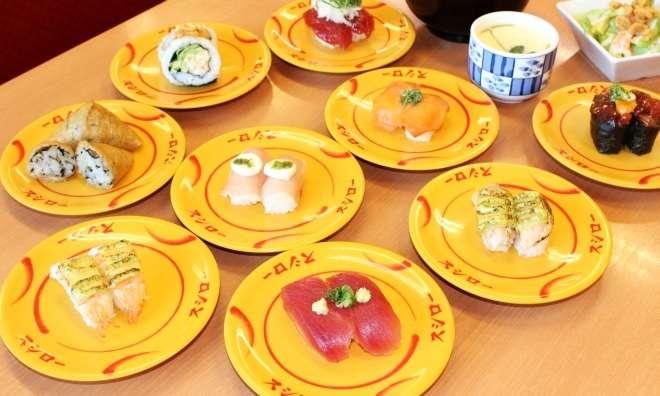 回転寿司で何皿食べますか?