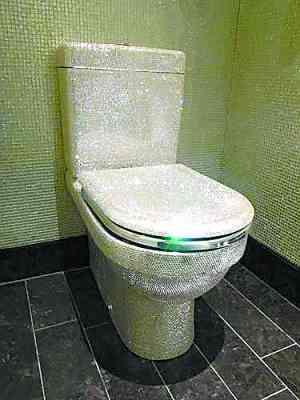ルイ・ヴィトン柄の革で覆われた金のトイレ、価格は1100万円