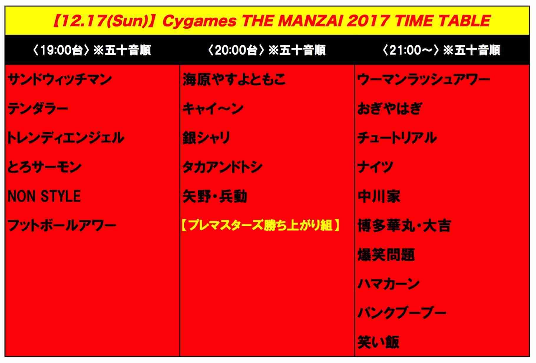 【実況・感想】THE MANZAI 2017 プレミアマスターズ
