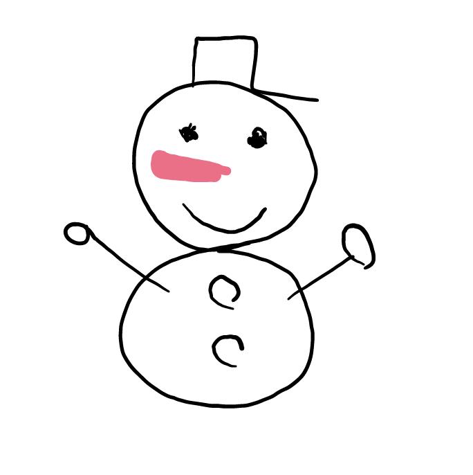 10秒で雪だるまを描こう