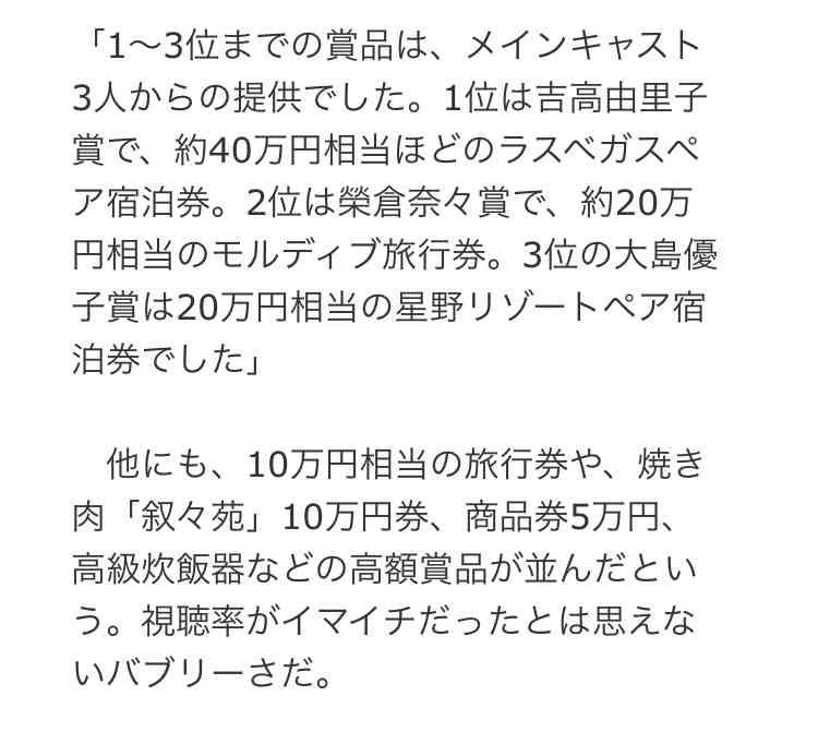 武井咲 大惨敗ドラマの「打ち上げ欠席」の波紋